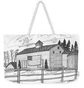 Stone Ridge Barn With Flag Weekender Tote Bag