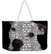 Stone Rock'd Dog By Sharon Cummings Weekender Tote Bag by Sharon Cummings