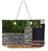Stone Wall And Gate Weekender Tote Bag