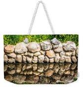 Stone Wall Reflection Weekender Tote Bag