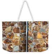 Stone Wall-small Window Weekender Tote Bag