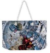 Stones And Fall Leaves Under Water-41 Weekender Tote Bag