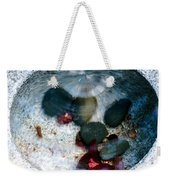Stones And Fall Leaves Under Water-43 Weekender Tote Bag