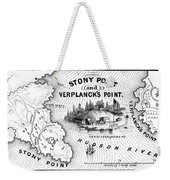 Stony Point Map, 1779 Weekender Tote Bag by Granger
