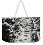 Stony Steps Covered With Snow Weekender Tote Bag