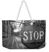 Stop Sign Weekender Tote Bag