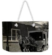 Stopped For A Spell In Sepia Weekender Tote Bag