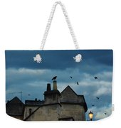 Storm Above Town Weekender Tote Bag