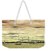 Storm Brewing In Newport Weekender Tote Bag