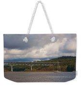 Storm Brewing Over Rip Van Winkle Bridge Weekender Tote Bag