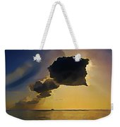 Storm Cloud Over Calm Waters Weekender Tote Bag by John Malone