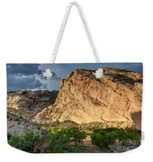 Storm Clouds Above Split Mountain Dinosaur National Monument Weekender Tote Bag