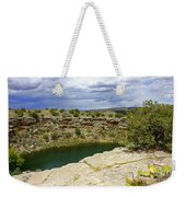 Storm Clouds Over Montezuma Well Weekender Tote Bag