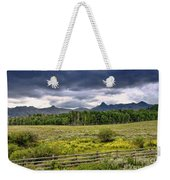 Storm Clouds Over The Rockies Weekender Tote Bag