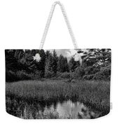Storm Clouds Rolling In Over The Creek Weekender Tote Bag