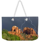 Storm Over Cathedral Rock Weekender Tote Bag
