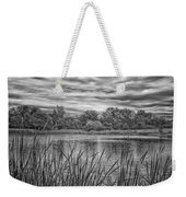 Storm Passing The Pond In Bw Weekender Tote Bag