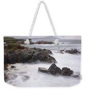 Storm Waves And Cliffs Weekender Tote Bag
