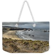 Storms Over An Unspoiled Beach Weekender Tote Bag