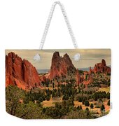 Storms Passing Over The Garden Weekender Tote Bag