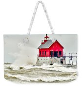 Stormy At Grand Haven Light Weekender Tote Bag