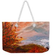Stormy Autumn Day Weekender Tote Bag