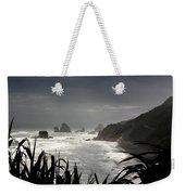 Stormy Coast New Zealand Weekender Tote Bag