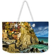 Stormy Day In Manarola - Cinque Terre Weekender Tote Bag