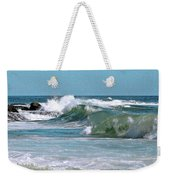 Stormy Lagune - Blue Seascape Weekender Tote Bag by Ben and Raisa Gertsberg