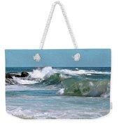 Stormy Lagune - Blue Seascape Weekender Tote Bag