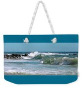 Stormy Lagune - Blue Seascape Weekender Tote Bag