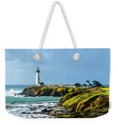 Stormy Lighthouse Weekender Tote Bag