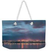 Stormy Night Lights Weekender Tote Bag