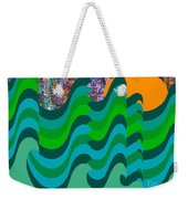 Stormy Sea Weekender Tote Bag