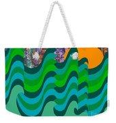 Stormy Sea Weekender Tote Bag by Patrick J Murphy