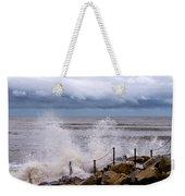 Stormy Seafront  Weekender Tote Bag