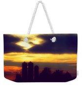 Stormy Silhouette Sunset Weekender Tote Bag