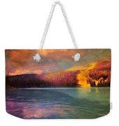 Stormy Skies Over Emerald Lake Weekender Tote Bag