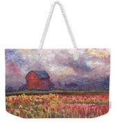 Stormy Sunflower Farm Weekender Tote Bag