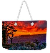 Stormy Sunset At The Watchtower Weekender Tote Bag