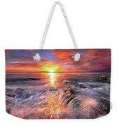 Stormy Sunset At Water's Edge Weekender Tote Bag