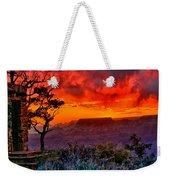 Stormy Sunset Greeting Card Weekender Tote Bag