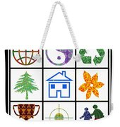 Story Line Happy Couples Happy Homes Focus Award Reward Green Balance Growth World  Signature Style  Weekender Tote Bag