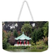 Stow Lake Chinese Pavilion Weekender Tote Bag