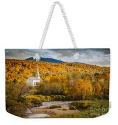 Stowe Church At Sunset Weekender Tote Bag