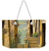 stradina a St Paul de Vence Weekender Tote Bag by Guido Borelli