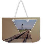 Straight As A Rail Weekender Tote Bag