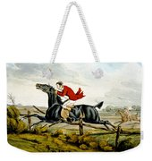 Straight Through The Fence From Qualified Horses And Unqualified Riders Weekender Tote Bag