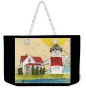 Stratford Pt Lighthouse Ct Nautical Chart Map Art Weekender Tote Bag