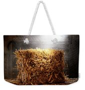 Straw Bale In Old Barn Weekender Tote Bag